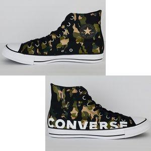 New Converse unisex camo wordmark hi sneakers